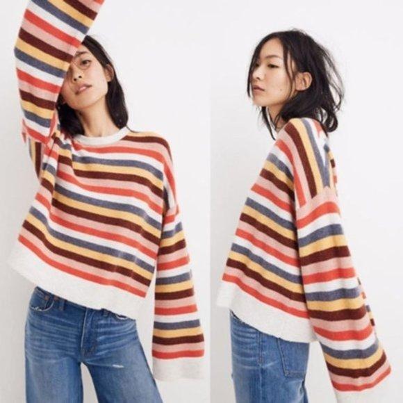 🆕Madewell Multi Stripe Cardiff Sweater